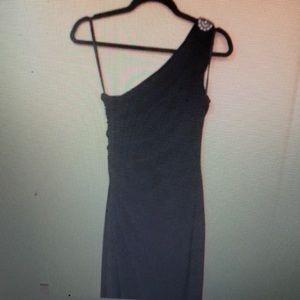 Ralph Lauren one shoulder black gown